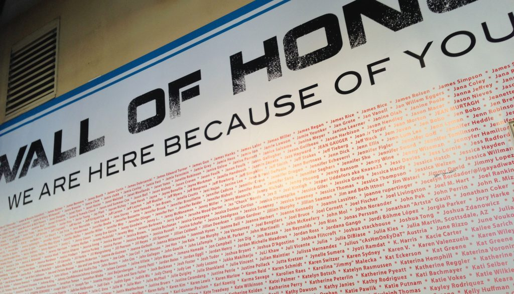 Wall of Honor - Nerd HQ 2014