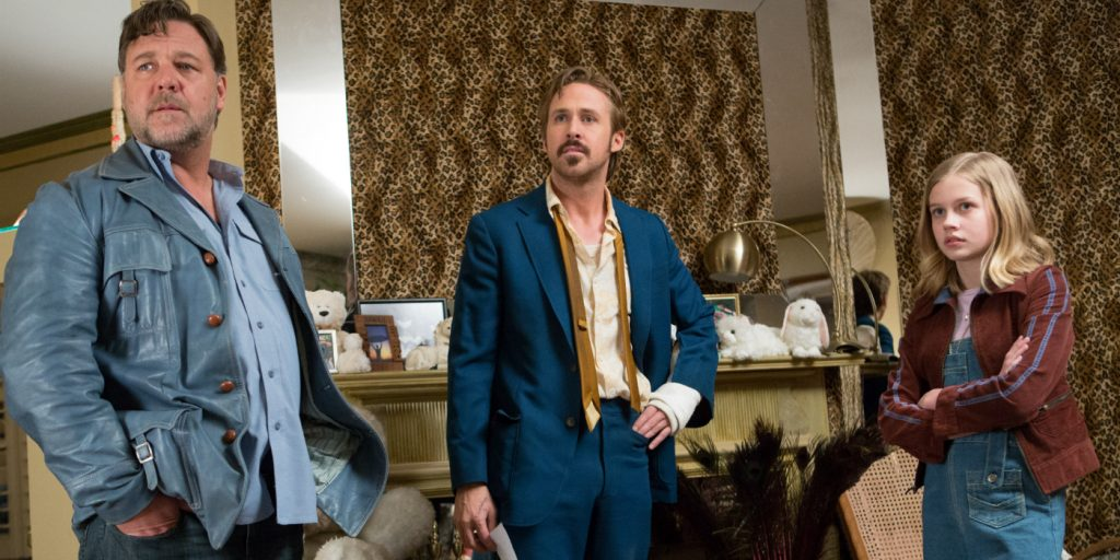 Russell Crowe, Ryan Gosling, and Angourie Rice
