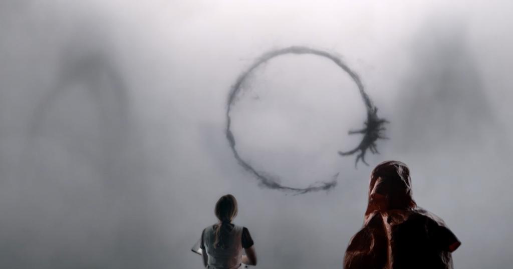 Alien contact in Arrival (2016)