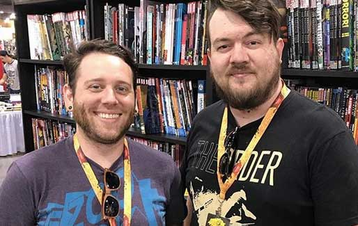 The Ghosts In Space comic book creators Kyle Armstrong and Jake Oliveira