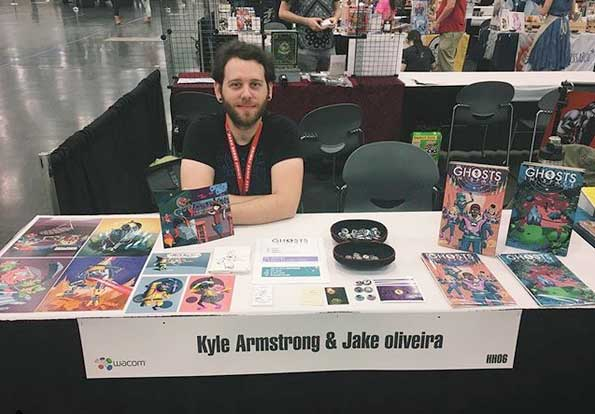 photo of artist kyle armstrong at Rose City Comic Con 2017