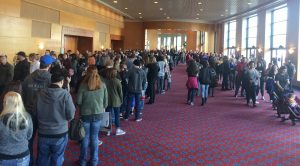 long entry lines for Heroes and Villians FanFest 2018