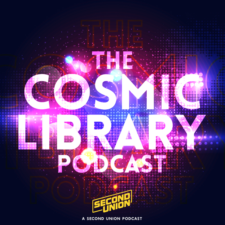 cosmic library podcast title card