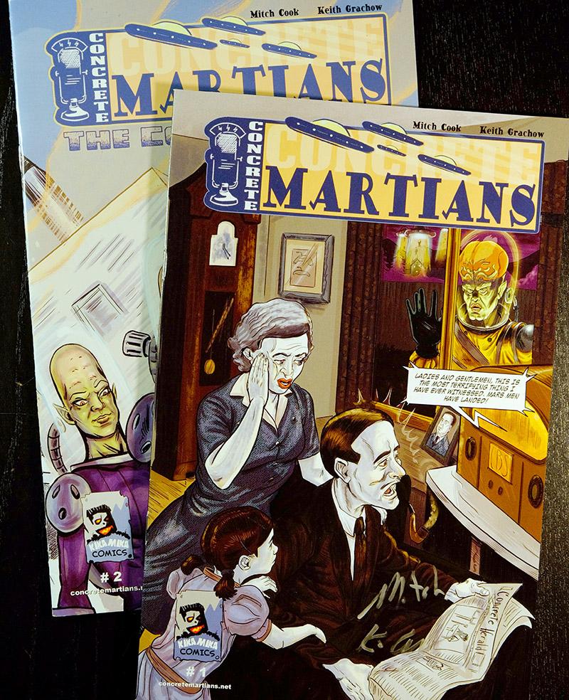 Concrete Martians comicbook covers