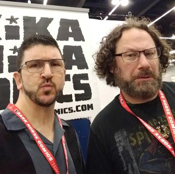 Mitch and Keith, co-creators of Kika Mika Comics